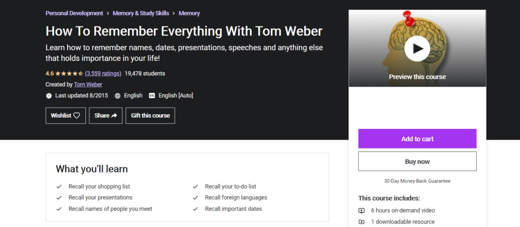 how to remember everything by Tom Weber